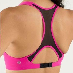 Lululemon Itty Bracer Hot Pink Mesh Sports Bra